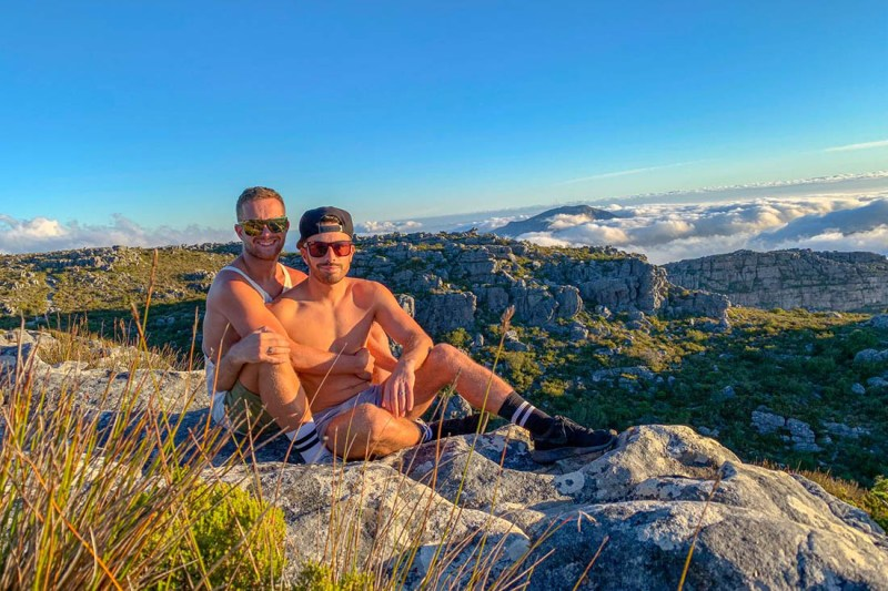 The two guys from the UK travel blogging about their gay adventures