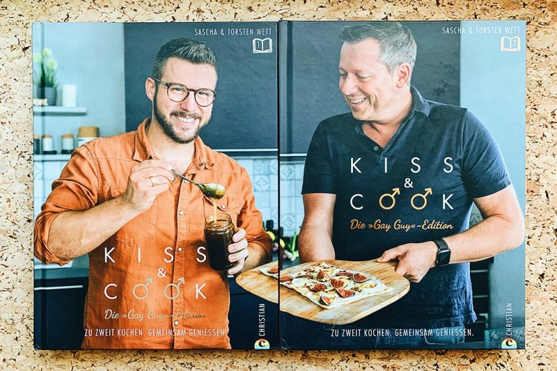 Torsten and Sascha's first gay cookbook -Gay Food Bloggers from Cologne