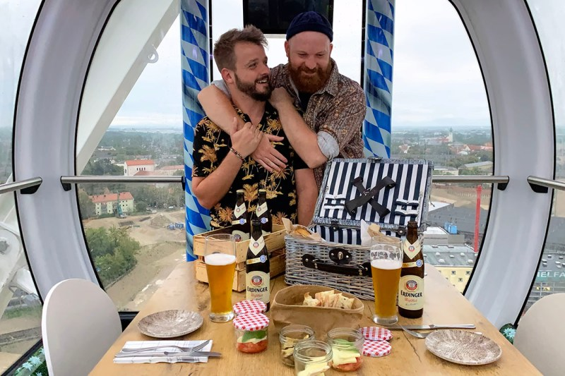 Gay Städtereise München Munich Gay City Trip: Ferris Wheel at Munich Werksviertel-Mitte called Umadum © Coupleofmen.com