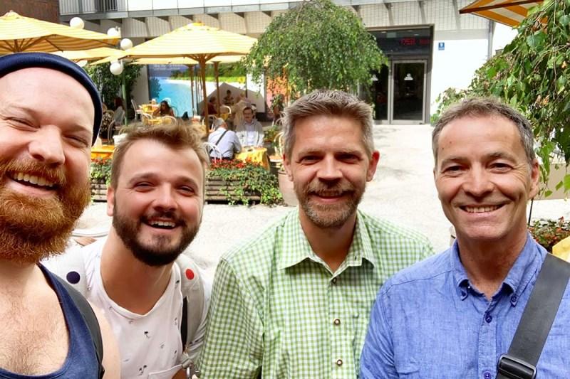 Munich Gay City Trip - Meet our Gay Tour Guide Alex and his husband © Coupleofmen.com
