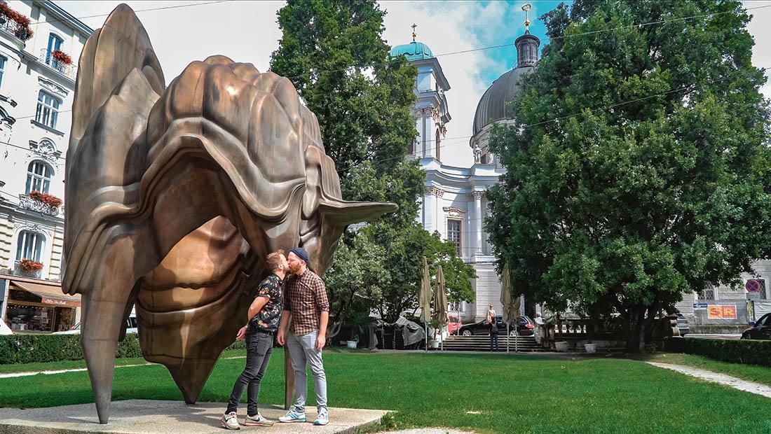 rediscover Gay Salzburg Walk of Modern Art with the art piece Caldera © Coupleofmen.com