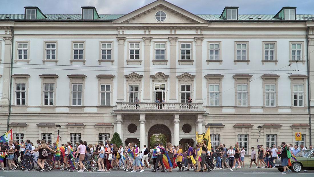 CSD Salzburg Pride Parade in the city center of Salzburg © Coupleofmen.com