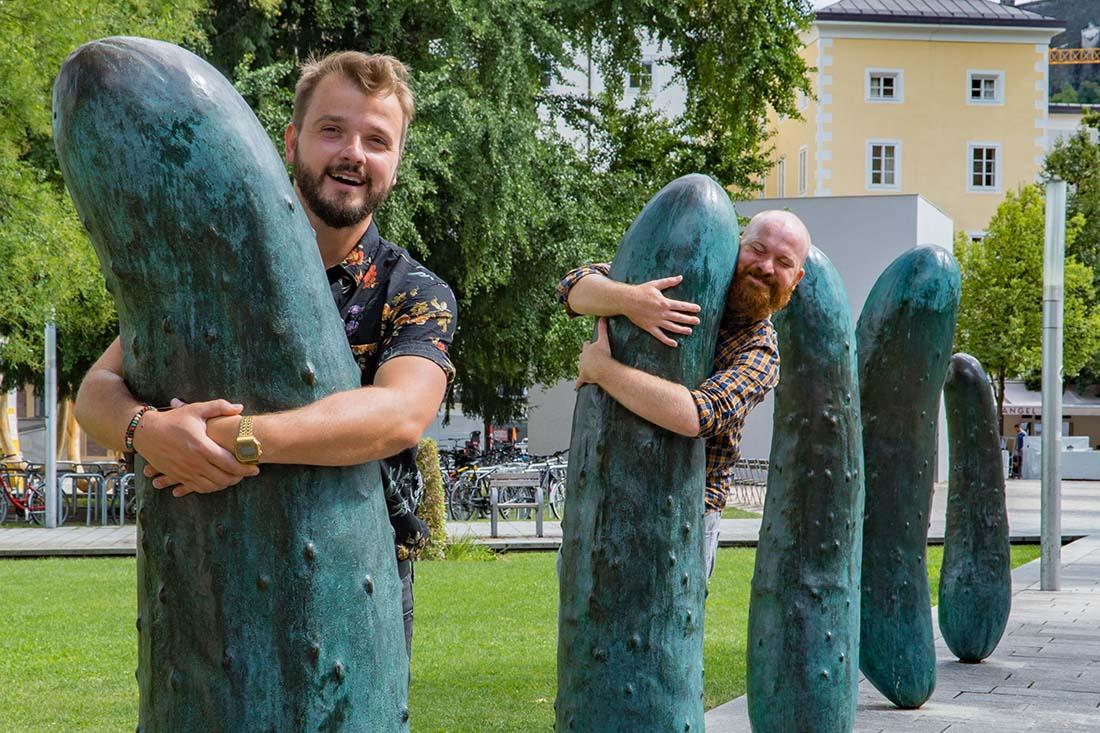 "rediscover Gay Salzburg Our favorites of Salzburg's Walk of Modern Art - the ""Gurken"" © Coupleofmen.com"