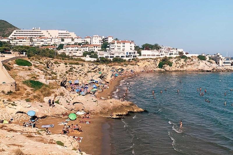 Gay Beach Playa Balmain in Sitges, Spain