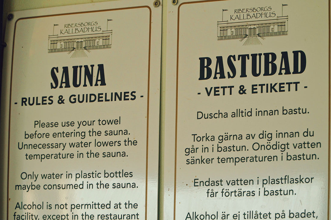 For everyone to read before entering Ribersborgs Kallbadhus gay-friendly sauna in Malmö - The house rules and guidelines © Coupleofmen.com