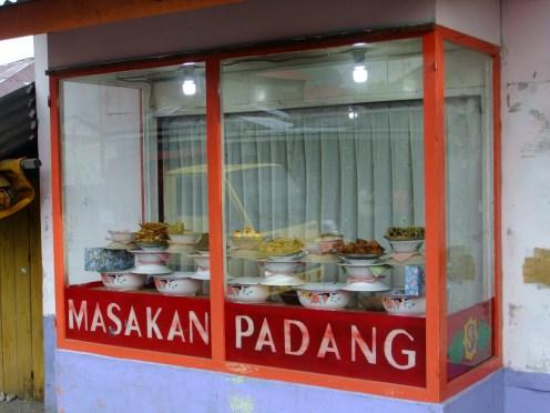 Typical Indonesian restaurant window