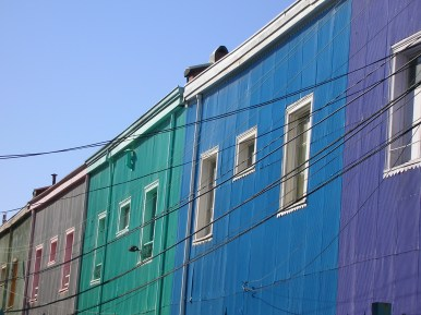 Colourful facades, Valparaiso, Chile