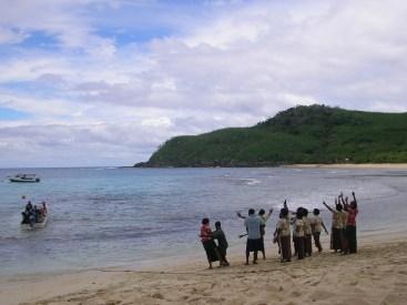 A Fijian welcome