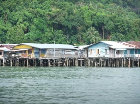 Filipino immigrants' stilt houses, Sandakan, Malaysia