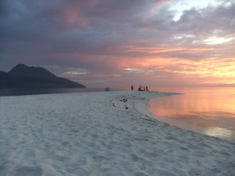 Amazing sunset from White Island (a sandbar), off the coast of Camiguin, Philippines