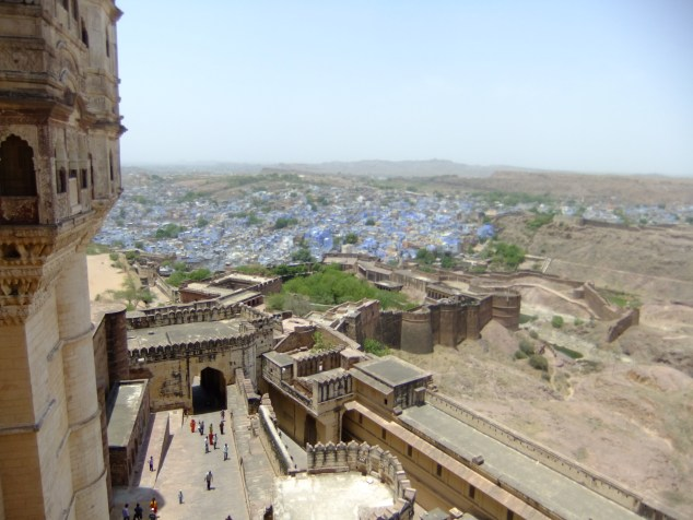 View from the fort of Jodphur: the blue city, India