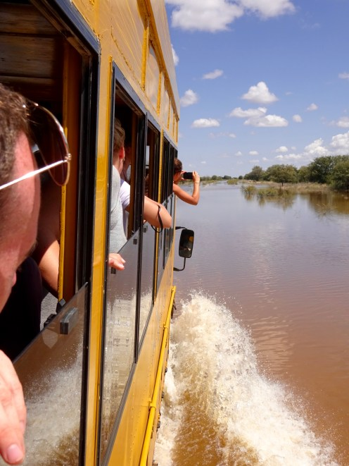 Driving through floods
