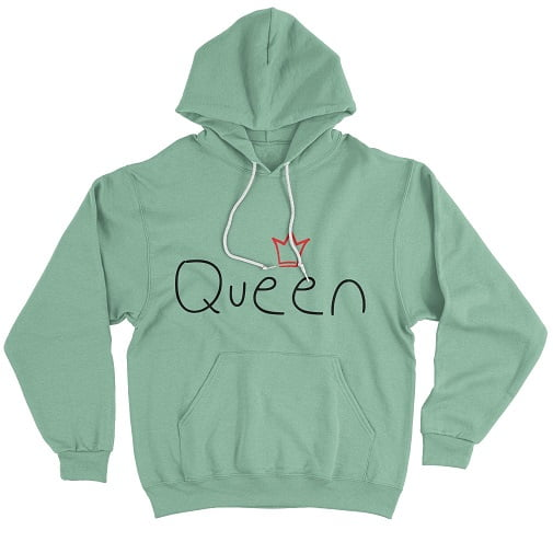 Irish Green Queen T-Shirt - matching hoodie for couples
