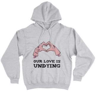Our Love Is Undying Couples Halloween Hoodies