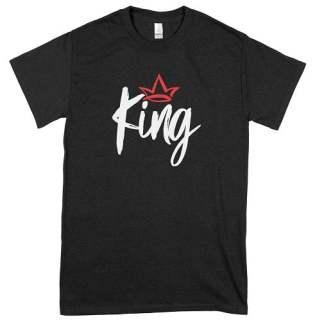 White Bold King T-Shirt