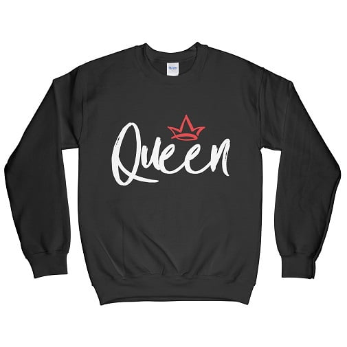 White Bold Queen T-Shirt - matching sweaters for couples