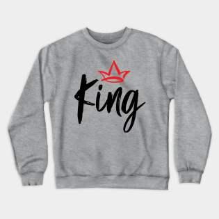 Crown King and Queen Crewneck Sweatshirt
