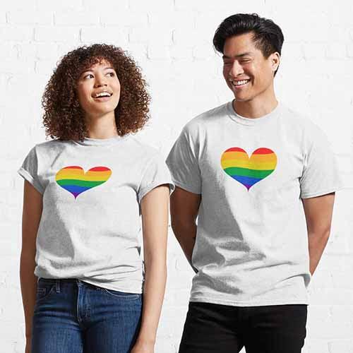 Couple Heat LGBT Pride Classic T-Shirt