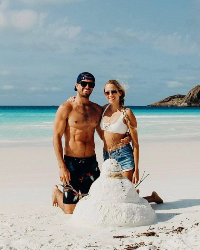 Couples coordonne esperance australie occidentale alex et michael snow sand man à lucky bay
