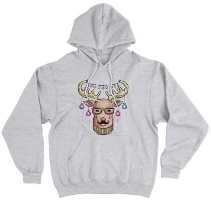 Reindeer Christmas Hoodie Premium