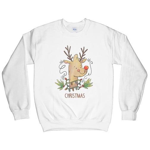 Rudolph the Red-Nosed Reindeer Hoodie - Reindeer Sweatshirt