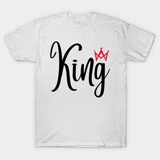 Matching Crown King Queen Shirts