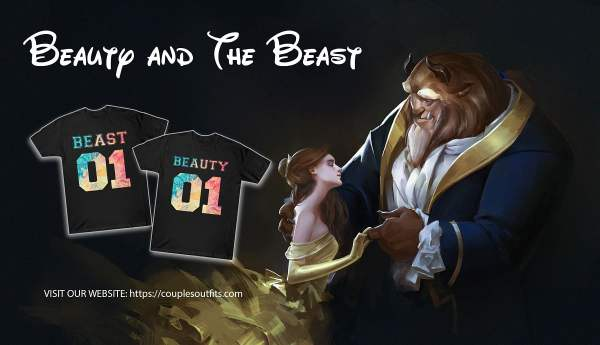 """Couple """"Beauty and The Beast"""" Outfits Banner"""