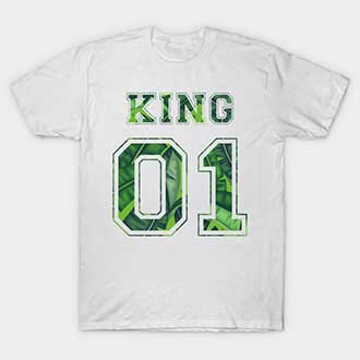 Green Leaf Couple King Queen 01 Shirts