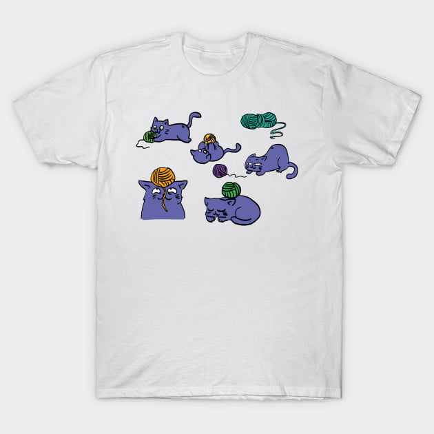 Purple Cat and Wool T-Shirts