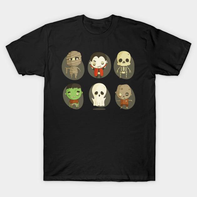 Cute Monster Halloween T-Shirts