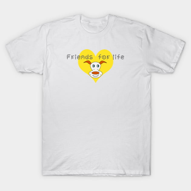 Dog and Cat are best Friends For Live T-Shirts