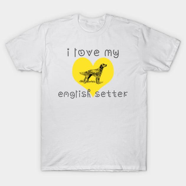 English Setter Dog T-Shirt