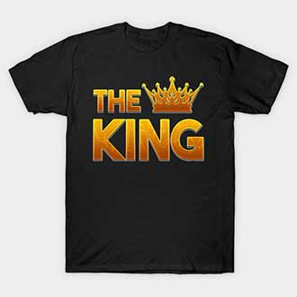 The King His Queen Couple Shirts