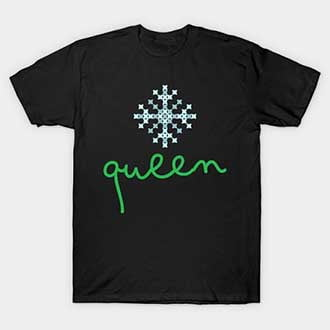 Pixel Snowflake Christmas Queen T-Shirt