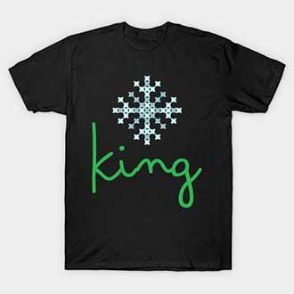Pixel Snowflake Christmas King T-Shirt