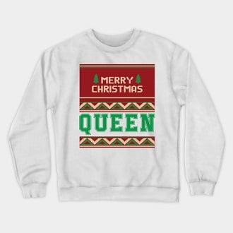 Ugly Christmas King Queen Couple Sweatshirt