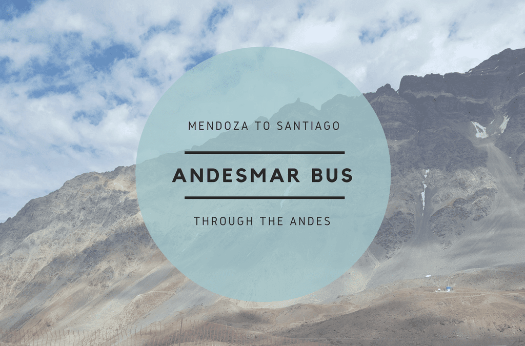 Andesmar Bus Mendoza to Santiago through the Andes Mountains