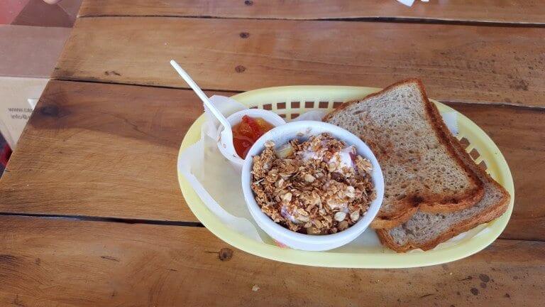 Breakfast at Pension Santa Elena