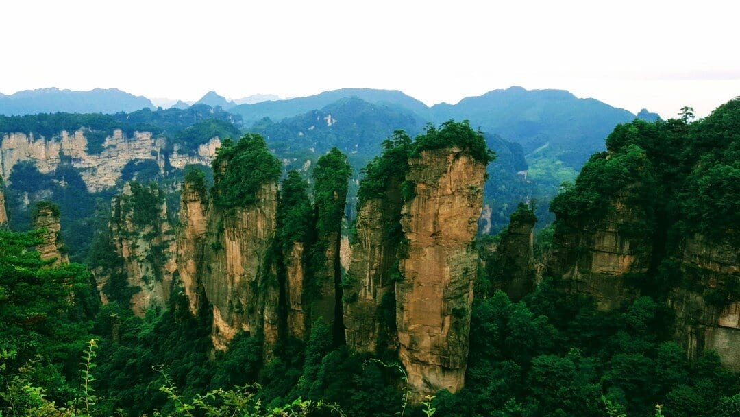 An image of the Zhangjiajie scenery you can see by reading our Zhangjiajie Forest Park travel guide