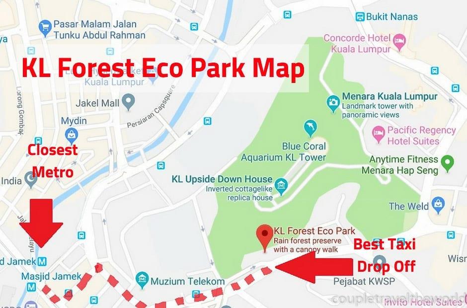 bukit nanas forest reserve map
