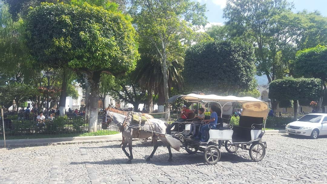 Antigua things to do + horse carriage ride + Guatemala