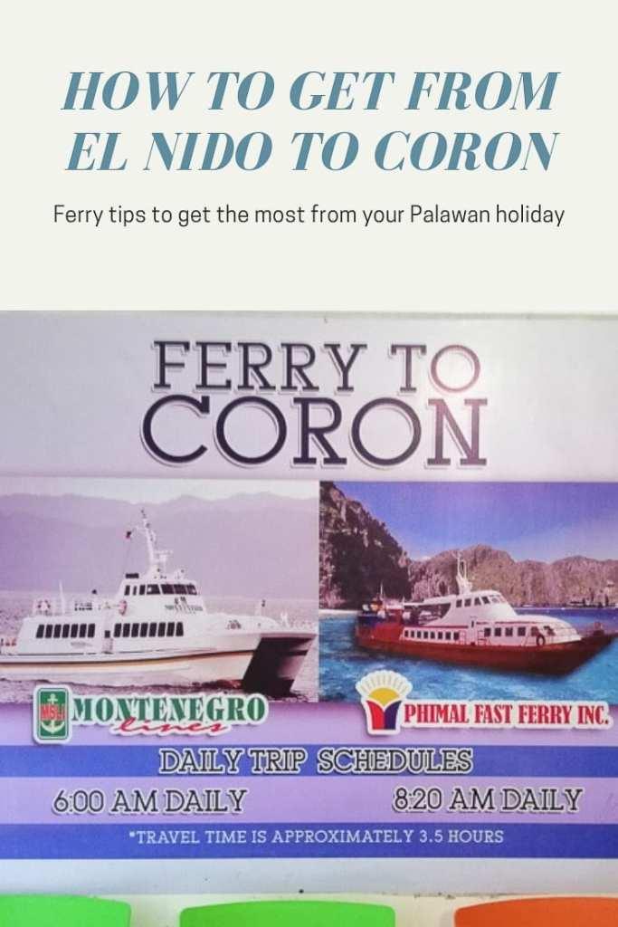 Coron to El Nido Ferry, El Nido to Coron Ferry Times, How to get from Coron to El Nido, El Nido ferry tips