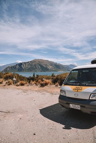 lake-wanaka-camping, mad-camperz, lake-outlet-lake-wanaka, camper-van-roadtrip-south-island