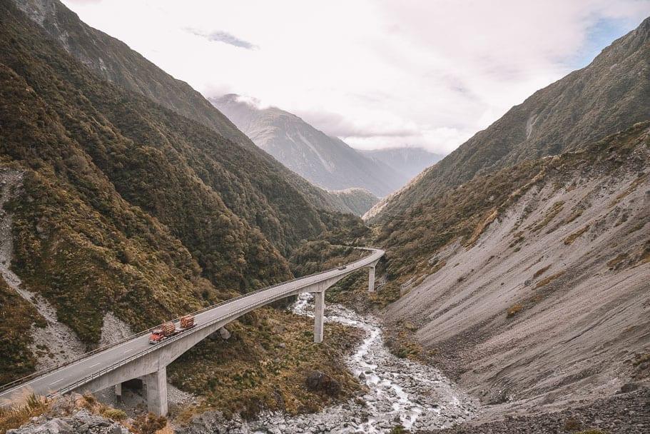 Otira-Viaduct-Lookout-Arthur's-Pass, 7-day-South-Island-Itinerary, New-Zealand-South-Island-Roadtrip