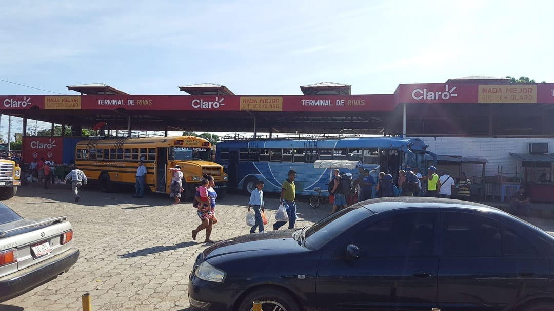 Bus-from-Granada-to-Ometepe-in-Rivas-Bus-Terminal