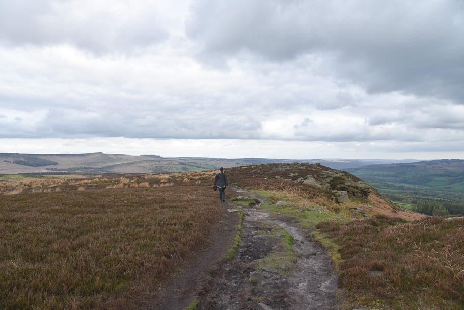 woman-on-bamford-edge-hike