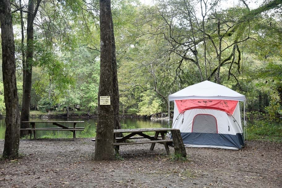 ginnie-springs-camping-sites
