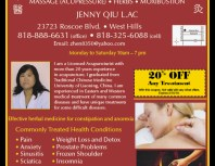 Traditional Chinese Acupuncture, Chatsworth, coupons, direct mail, discounts, marketing, Southern California