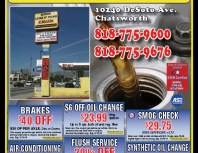 Econo Lube n' Tune, Chatsworth, coupons, direct mail, discounts, marketing, Southern California