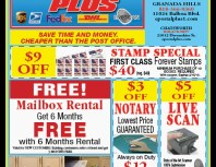 Postal Plus, Granada Hills, coupons, direct mail, discounts, marketing, Southern California